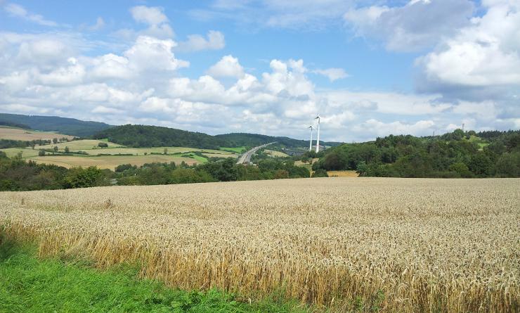 Blick von Kirchheim nach Reckerode heute