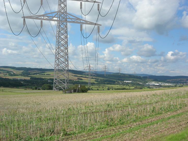 Blick über Niederaula mit Südlink