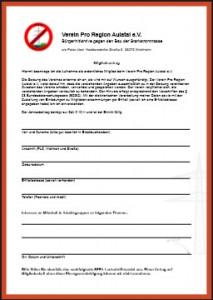 Mitgliedsantrag Vorschau